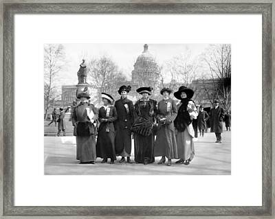 Suffragettes, 1913 Framed Print