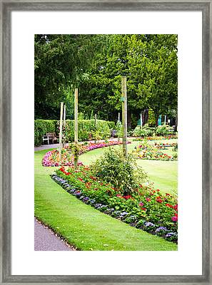 Summer Garden Framed Print by Tom Gowanlock