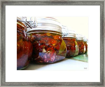 Sun Dried Tomatoes In Olive Oil Framed Print