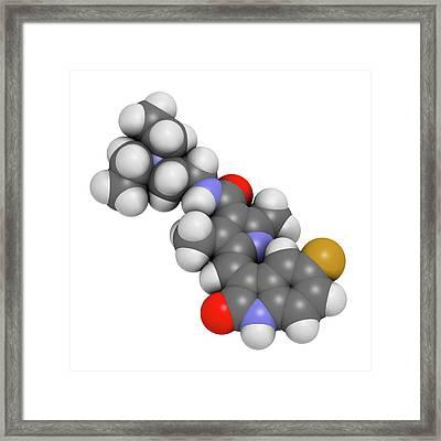 Sunitinib Cancer Drug Molecule Framed Print