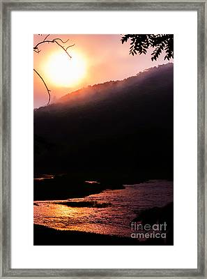 Sunrise And Fog Framed Print by Thomas R Fletcher