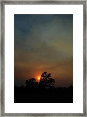 #sunset Framed Print by Becky Furgason