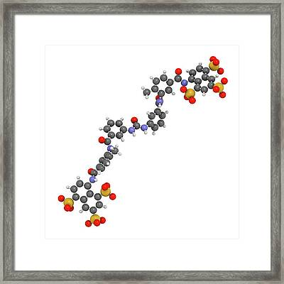 Suramin Sleeping Sickness Drug Molecule Framed Print by Molekuul