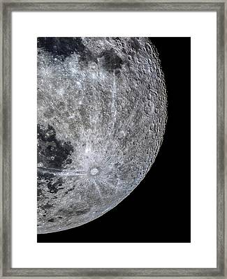 Surface Of The Moon Framed Print by Babak Tafreshi