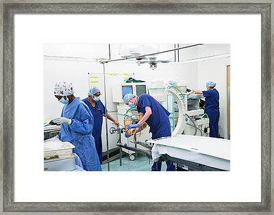 Surgery Preparations Framed Print by Mark Thomas