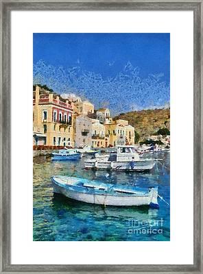 Symi Island Framed Print