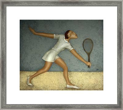 Tennis Framed Print by Nicolay  Reznichenko