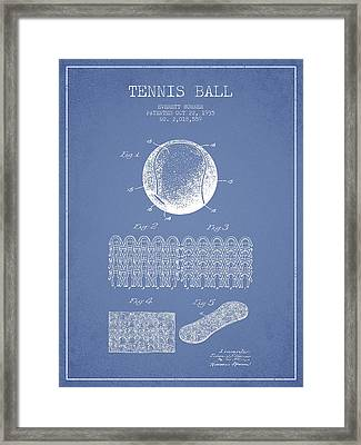 Tennnis Ball Patent Drawing From 1935 Framed Print