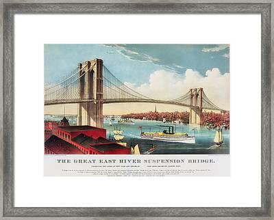 The Brooklyn Bridge Framed Print by Mountain Dreams