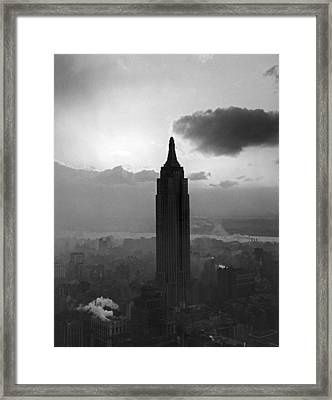 The Empire State Building Framed Print by Underwood Archives