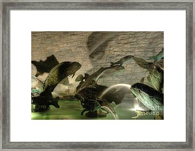 The Fountain At Founders Hall Framed Print