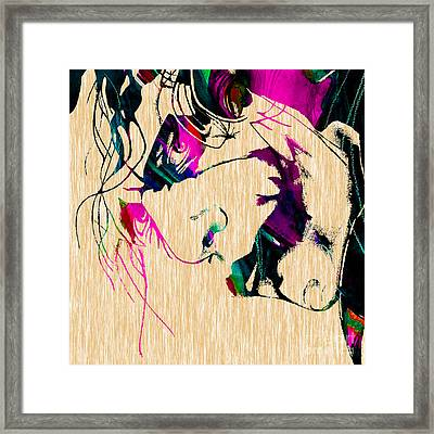 The Joker Heath Ledger Collection Framed Print by Marvin Blaine