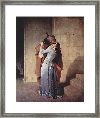 The Kiss Framed Print by Mountain Dreams