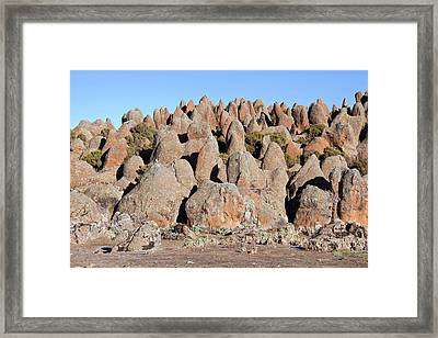 The Rafu Lava Flow With Its Bizarre Framed Print