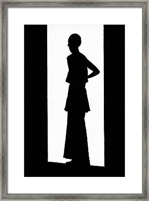 The Silhouette Of A Woman Framed Print by  Barre
