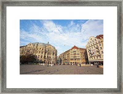 Timisoara In The Banat Of Romania Framed Print by Martin Zwick