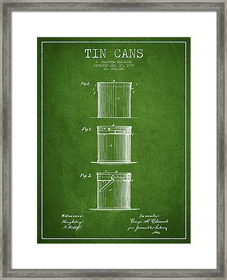 Tin Cans Patent Drawing From 1878 Framed Print