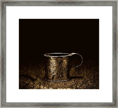 Tin Cup Chalice Framed Print by John Stephens