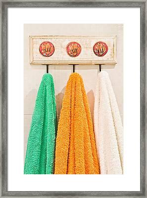 Towels Framed Print