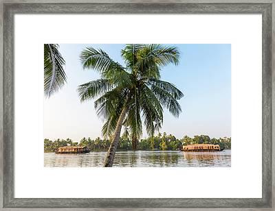 Traditional Houseboat, Kerala Framed Print