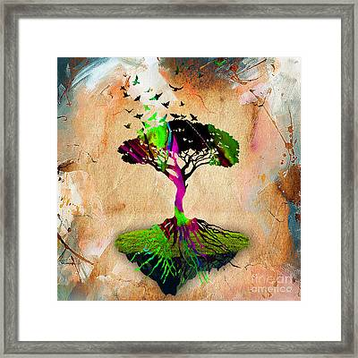 Tree Of Life Framed Print by Marvin Blaine