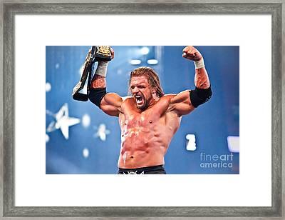 Triple H Framed Print by Wrestling Photos