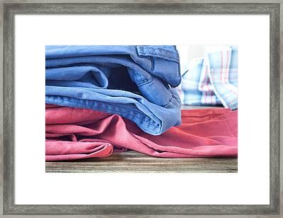 Trousers Framed Print by Tom Gowanlock