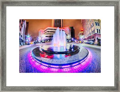 Tulsa City Skyline Around Downtown Streets Framed Print