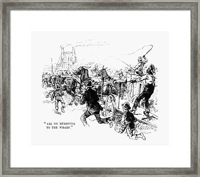 Twain Mississippi, 1883 Framed Print