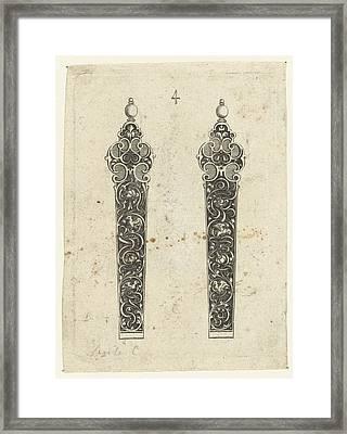 Two Knife Handles, Michiel Le Blon Framed Print by Michiel Le Blon