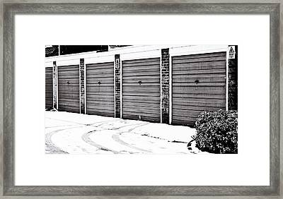 Tyre Tracks Framed Print by Tom Gowanlock