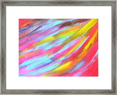 Under Angel's Wings Framed Print