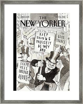 New Yorker October 24th, 2011 Framed Print by Barry Blitt