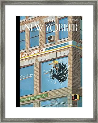 New Yorker September 9th, 2013 Framed Print by Bruce McCall