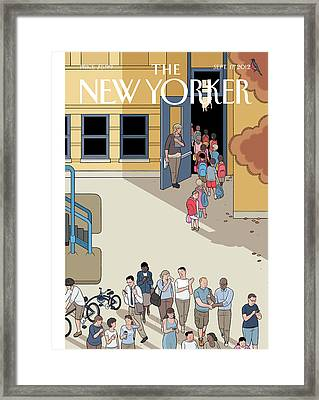 New Yorker September 17th, 2012 Framed Print by Chris Ware