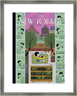 New Yorker July 1st, 2013 Framed Print by Ivan Brunetti