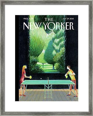 New Yorker July 29th, 2013 Framed Print by Lorenzo Mattotti