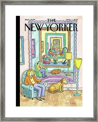 New Yorker March 4th, 2013 Framed Print by Roz Chast