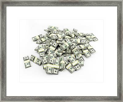 Us Dollar Notes Framed Print by Sebastian Kaulitzki