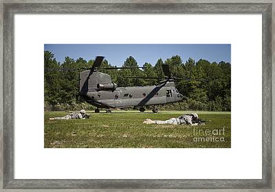 U.s. Soldiers Provide Security Framed Print by Stocktrek Images