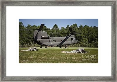 U.s. Soldiers Provide Security Framed Print by Stocktrek Images