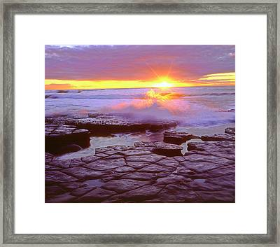 Usa, California, San Diego, Sunset Framed Print by Jaynes Gallery