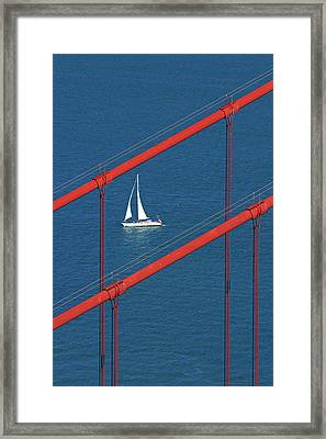 Usa, California, San Francisco, Golden Framed Print by David Wall