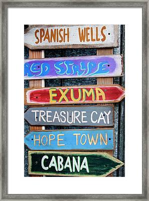 Usa, Florida, Apalachicola, Colorful Framed Print