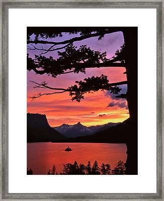 Usa, Montana, Glacier National Park Framed Print
