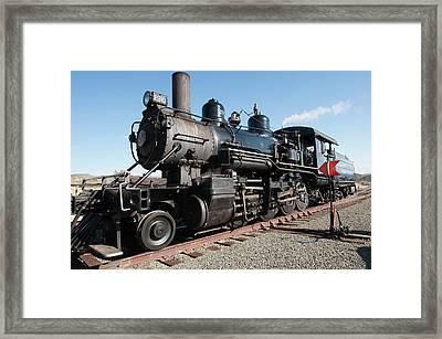 Usa, Nevada Old Steam Locomotive Framed Print by Michael Defreitas
