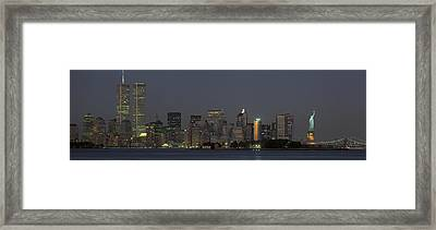 Usa, New York, Statue Of Liberty Framed Print