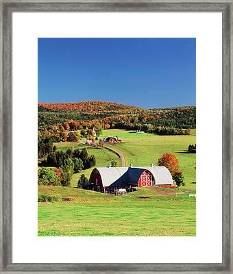 Usa, Vermont, Northeast Kingdom Framed Print by Walter Bibikow