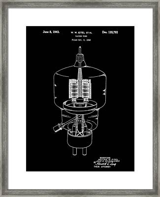 Vacuum Tube Patent 1942 - Black Framed Print by Stephen Younts