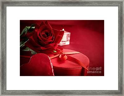 Valentine's Day Present Framed Print